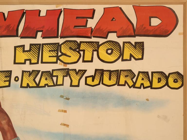 American Movie Poster of Arrowhead Staring Charlton Heston, circa 1953 For Sale