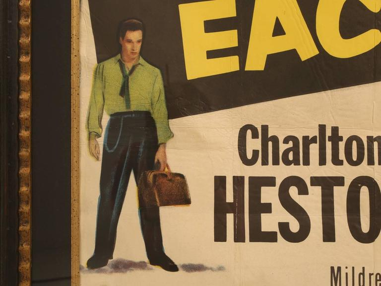 Movie Poster with Charlton Heston, circa 1953 For Sale 5