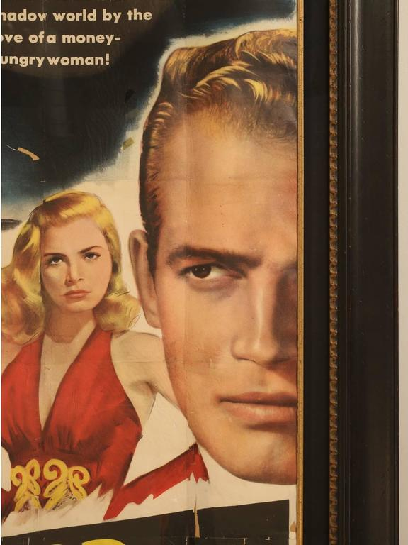 Movie Poster with Charlton Heston, circa 1953 In Good Condition For Sale In Chicago, IL