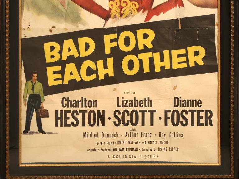 Movie Poster with Charlton Heston, circa 1953 For Sale 3