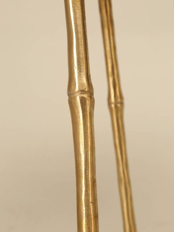 Polished Solid Brass Counter Stools In A Jansen Inspired