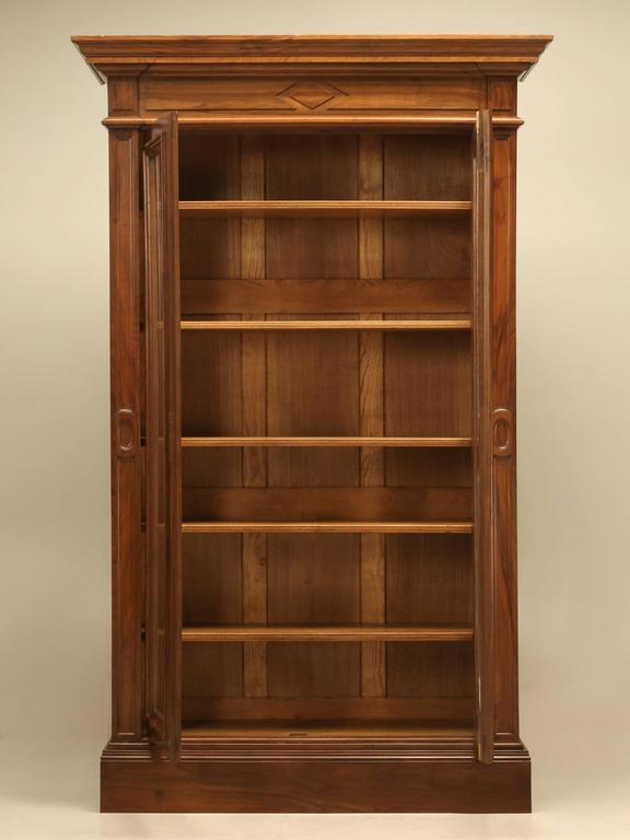 Antique French Walnut Bookcase or Bibliotheque 10