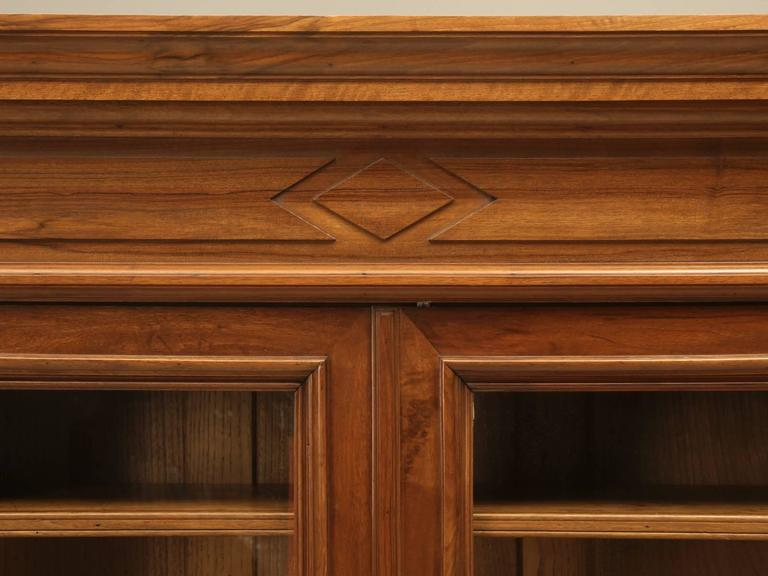 Antique French Walnut Bookcase or Bibliotheque 4