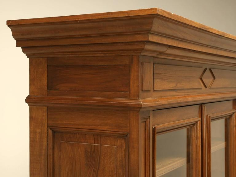 Antique French Walnut Bookcase or Bibliotheque 3