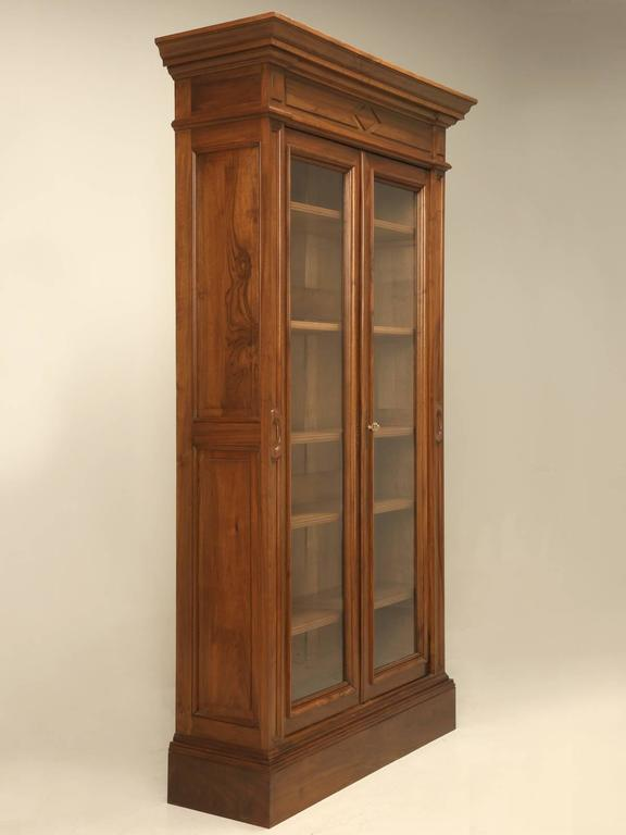 Antique French Walnut Bookcase or Bibliotheque 2