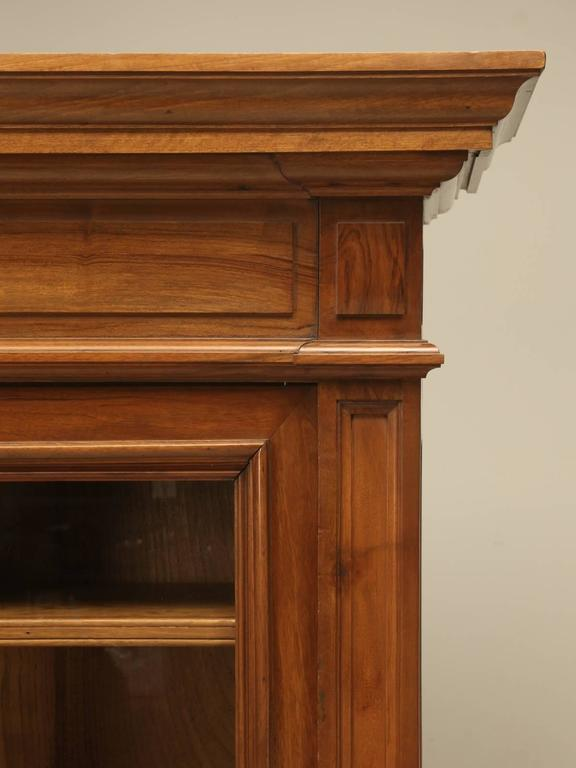 Antique French Walnut Bookcase or Bibliotheque 5