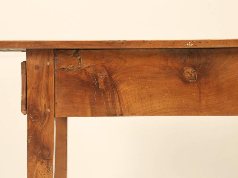 Antique Country French Farm Table or Kitchen Table in Cherry Wood For Sale 5