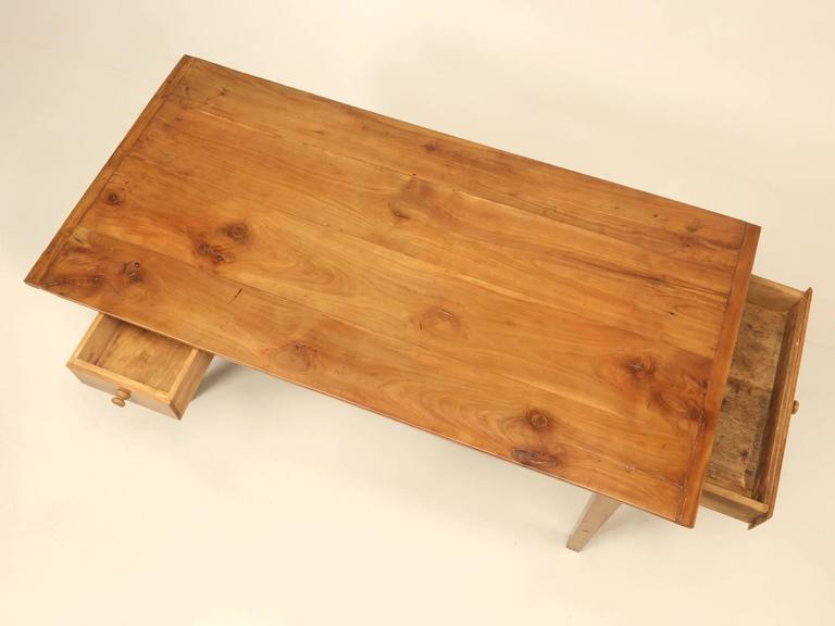 When one conjures up in their mind, what an original Country French Farm Table should look like, this is it. Almost 30 years ago, when we would travel the back roads of Brittany and Normandy, our number one goal was to find authentic country French