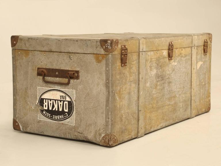 French Metal Trunk or Suitcase 9