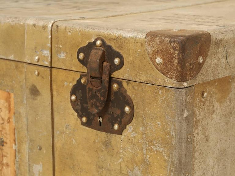 French Metal Trunk or Suitcase 6