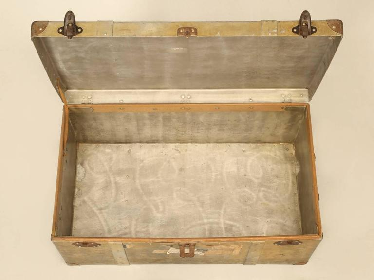 French Metal Trunk or Suitcase 2