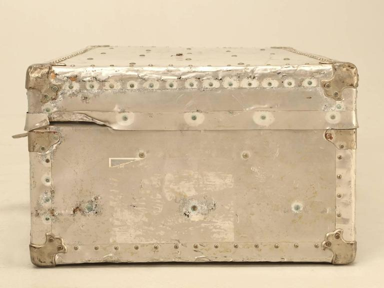 French Metal Trunk Could Be Made into a Coffee Table For Sale 3