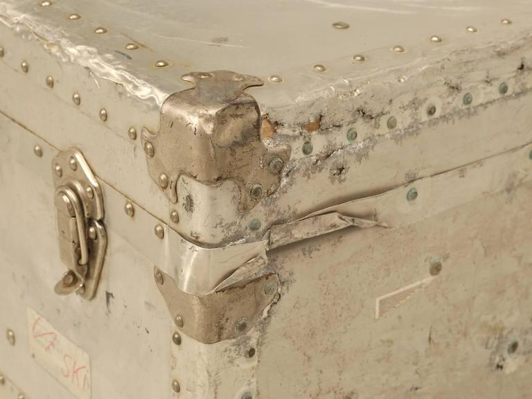 French Metal Trunk Could Be Made into a Coffee Table For Sale 2