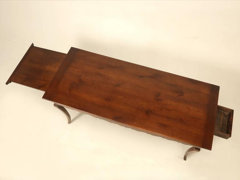 Now normally when I would look at this French dining table, I would immediately think it is 20th century, but after taking a much harder inspection, you immediately begin to notice things, like the thickness of the drawer, contrasting with the