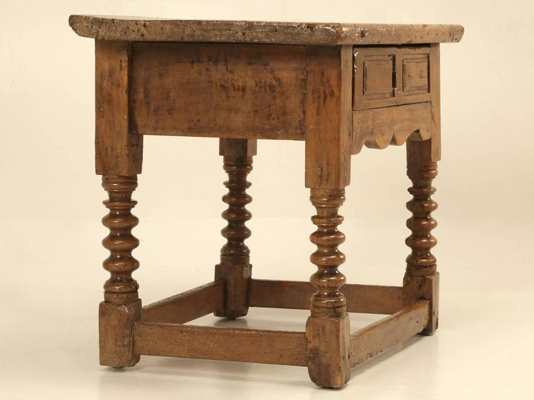 Antique End Tables Images: Antique Spanish Walnut End Or Side Table For Sale At 1stdibs