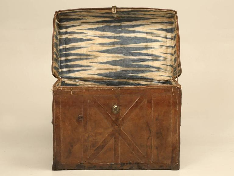 Antique Leather Trunk 4