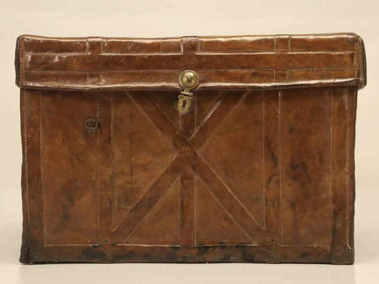 Antique Leather Trunk 7