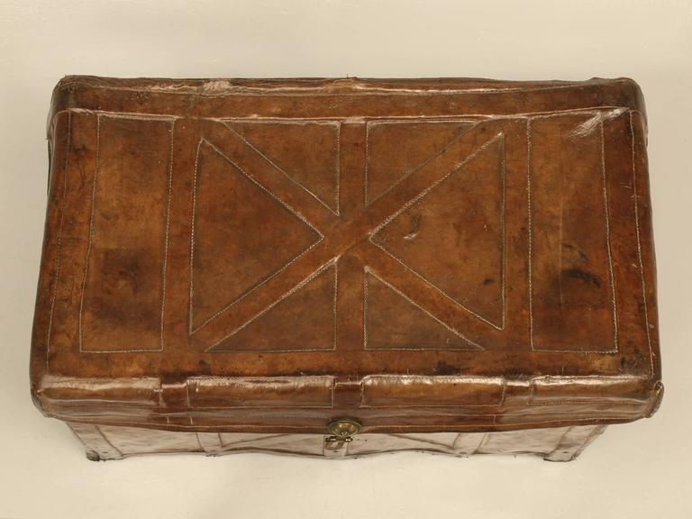Antique Leather Trunk 6