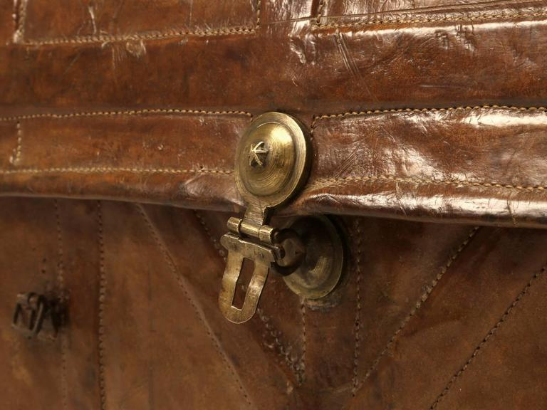 Antique Leather Trunk 8