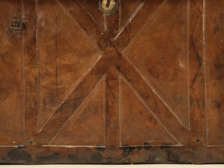 Antique Leather Trunk 9