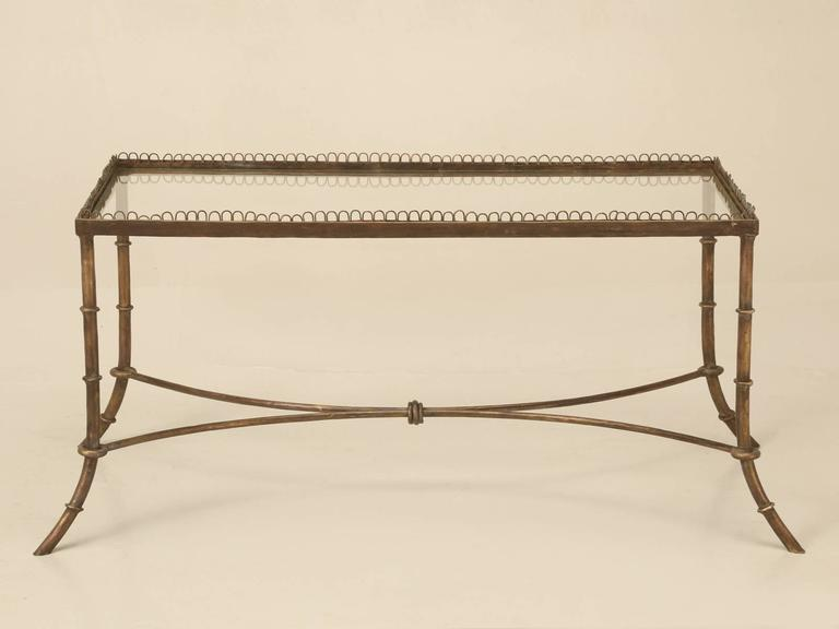Vintage French Brass Coffee Table (matching Pair Of End Tables Available On  1stdibs As Well