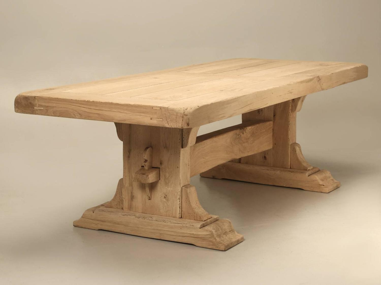 Antique French Oak Trestle Dining Table At 1stdibs