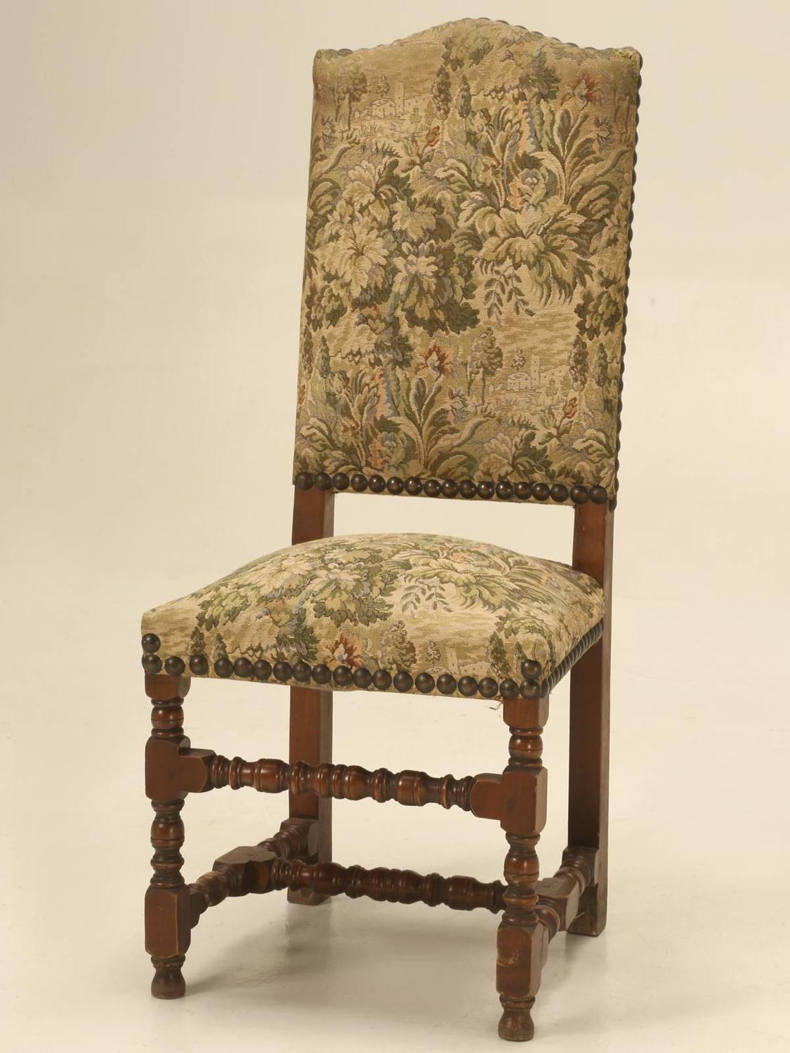French Vintage Louis XIII Style Dining Chairs For Sale At 1stdibs
