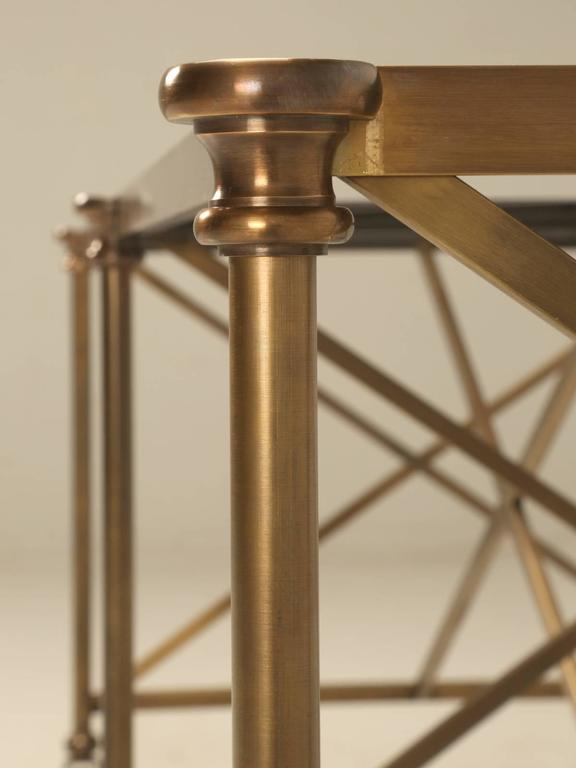 French Inspired Industrial Style Brass Kitchen Island Made
