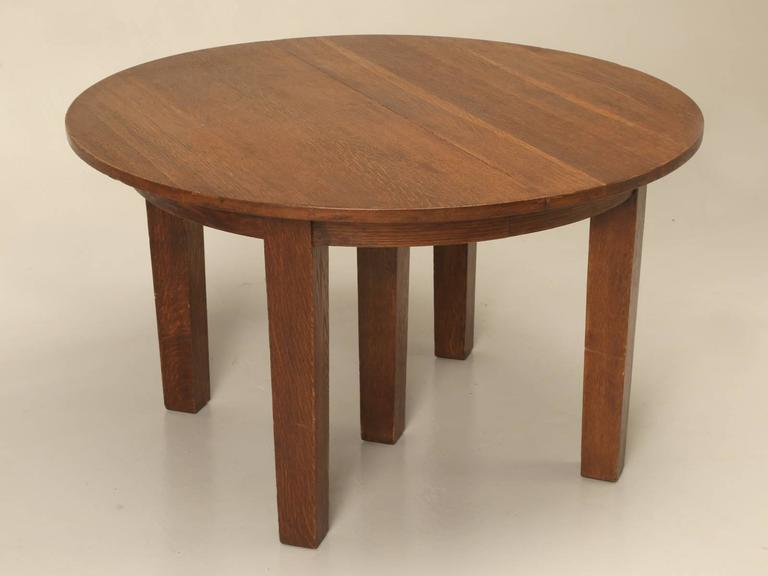 Arts And Craft Dining Table And Chairs In Original Condition For Sale At 1stdibs