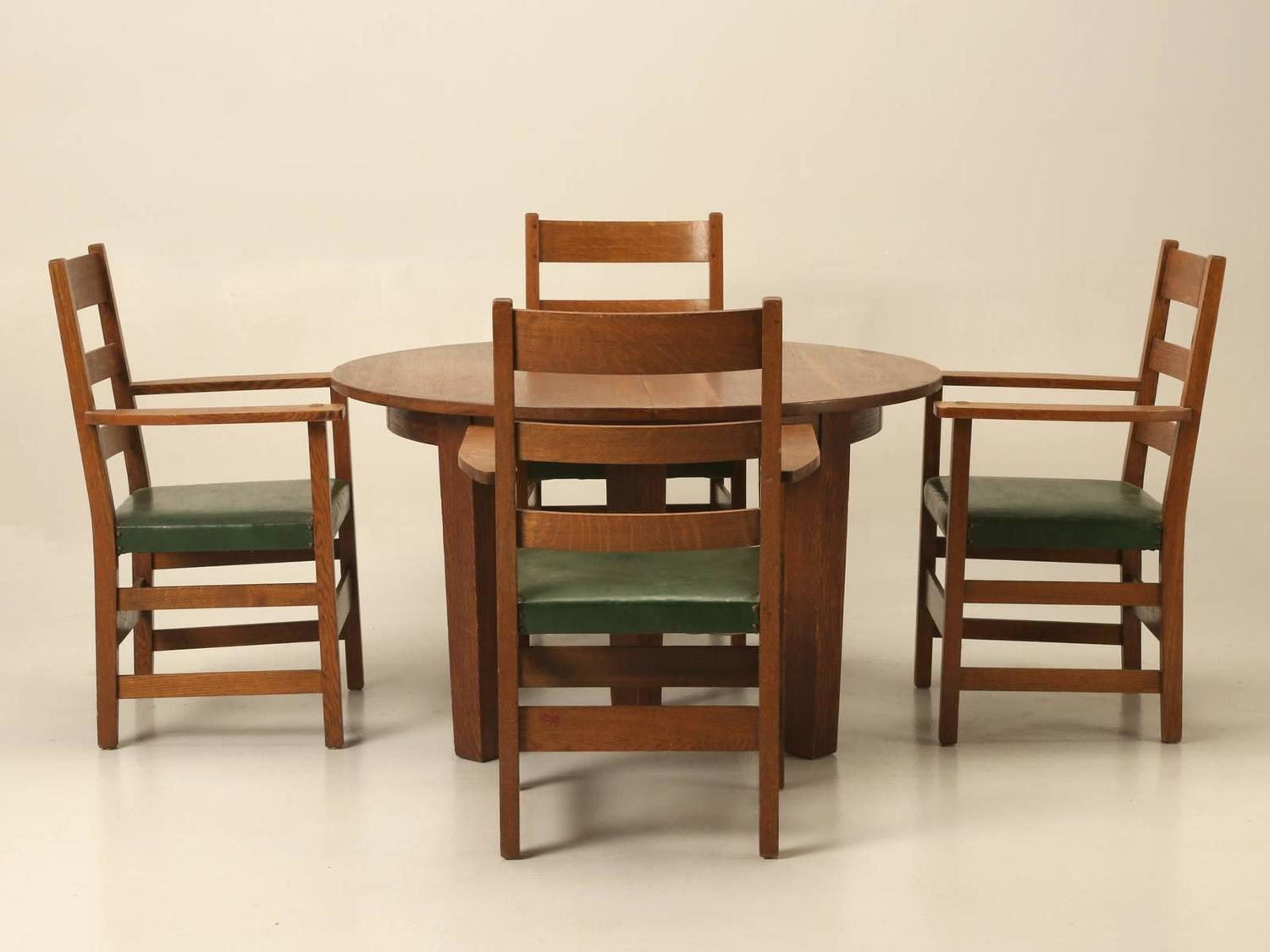 Arts And Crafts Dining Table And Chairs: Arts And Craft Dining Table And Chairs In Original