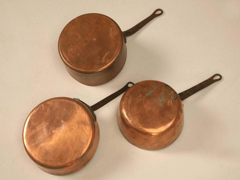 Antique French Copper Pots And Pans At 1stdibs