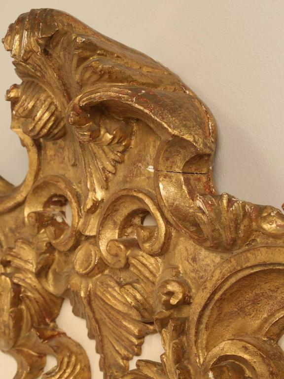 Rococo Antique Italian Gilded King-Size Headboard For Sale