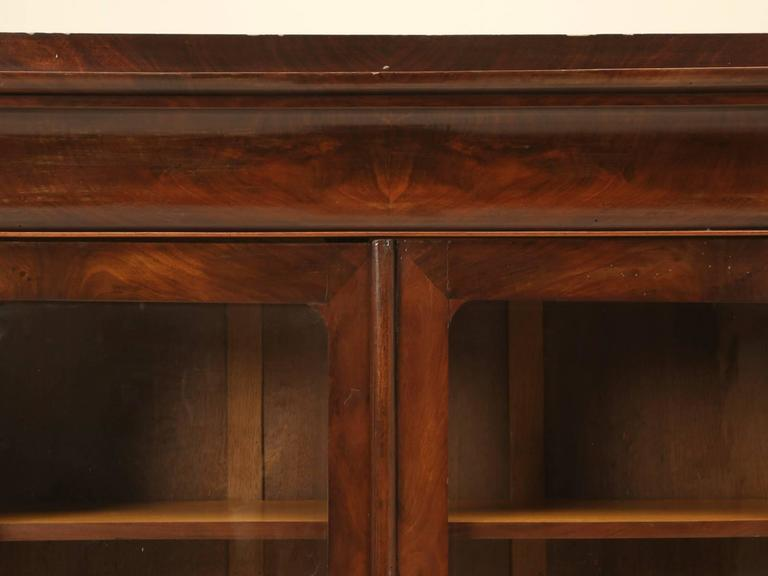 Late 19th Century Antique French Louis Philippe Style Bookcase For Sale