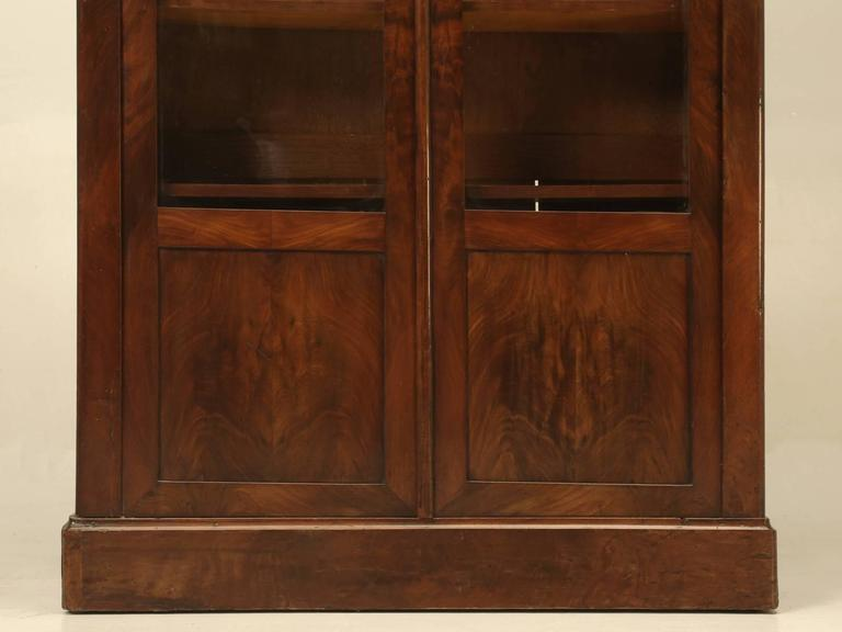 Antique French Louis Philippe Style Bookcase For Sale 2
