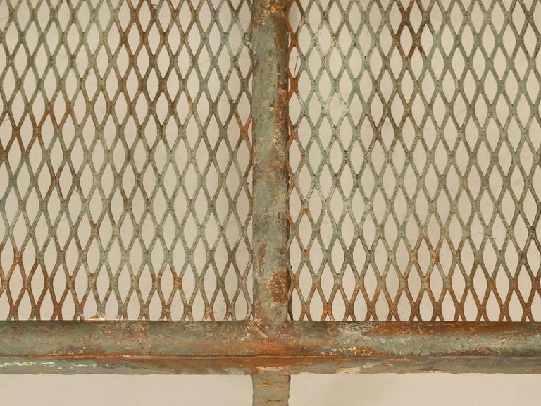Antique French Original Paint Garden Bench For Sale 3