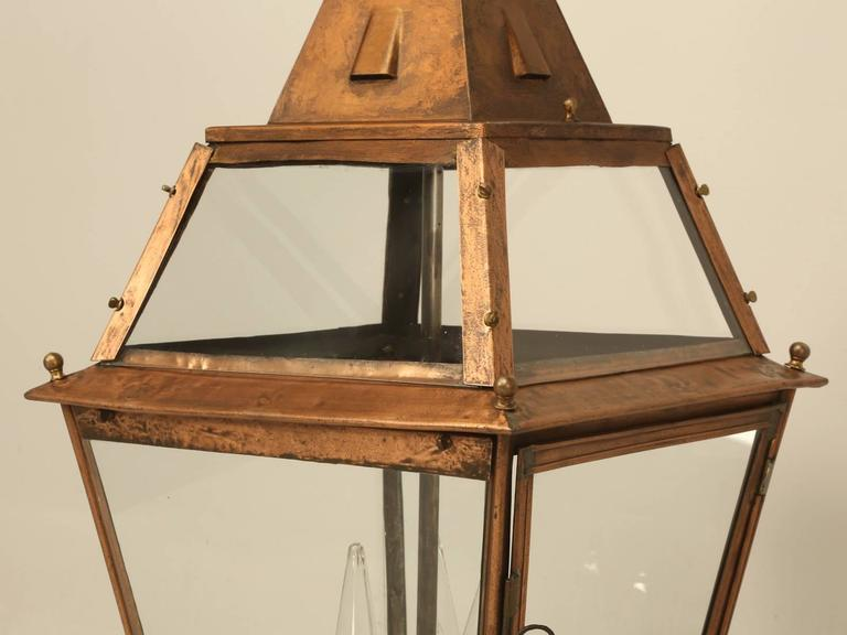 Early 20th Century French Copper Lantern For Sale