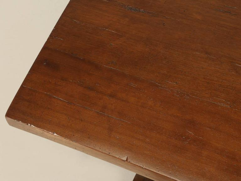 Country French Trestle Table in Solid Mahogany For Sale
