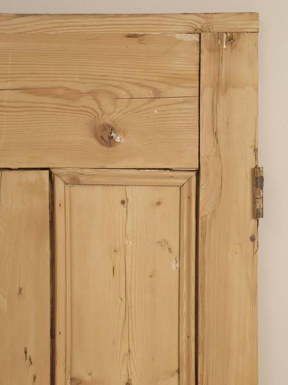Antique Irish Stripped Pine Door At 1stdibs