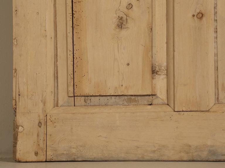 Antique Irish Scrubbed Pine Interior Door For Sale 2