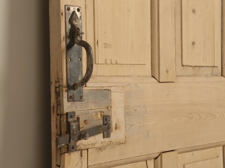 Late 19th Century Antique Irish Scrubbed Pine Interior Door For Sale