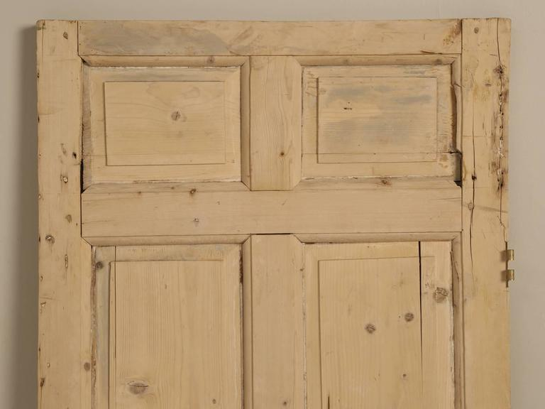 Antique Irish interior exterior door, that we purchased from Rod an Irish pine dealer, in the town of Derby, England, over 20 years ago. The door has been sitting upstairs ever since.