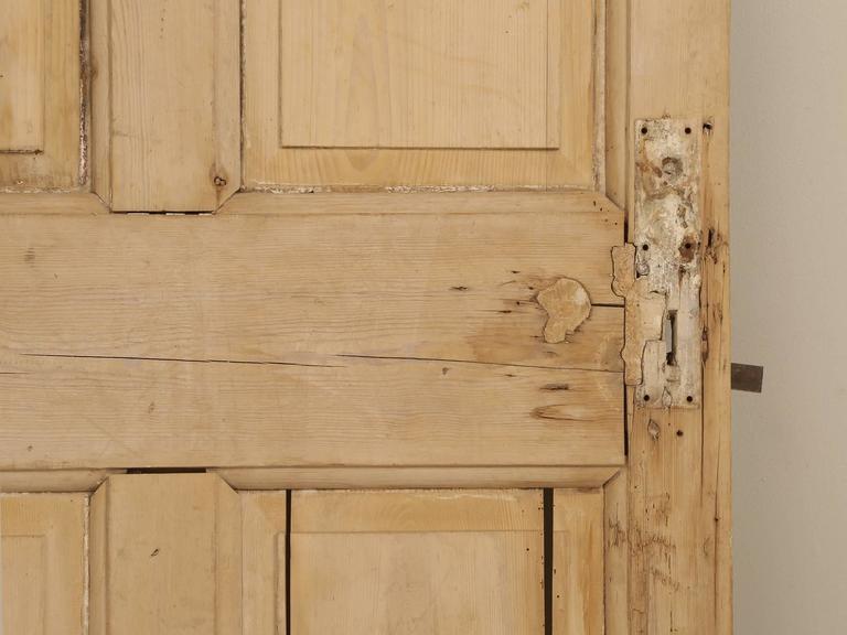 Antique Irish Scrubbed Pine Interior Door For Sale 5