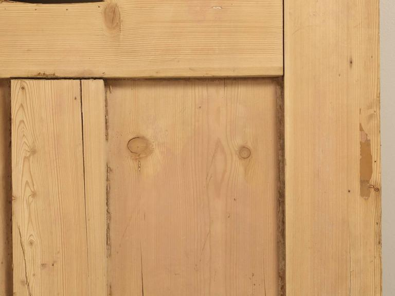 Antique Irish Pine Scrubbed Exterior Door For Sale 2