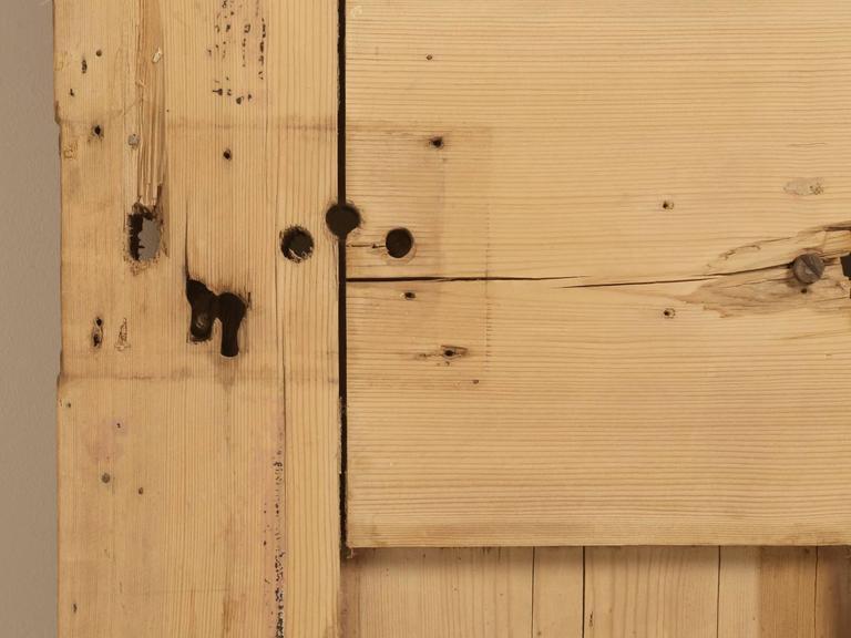 Late 19th Century Antique Irish Pine Scrubbed Exterior Door For Sale