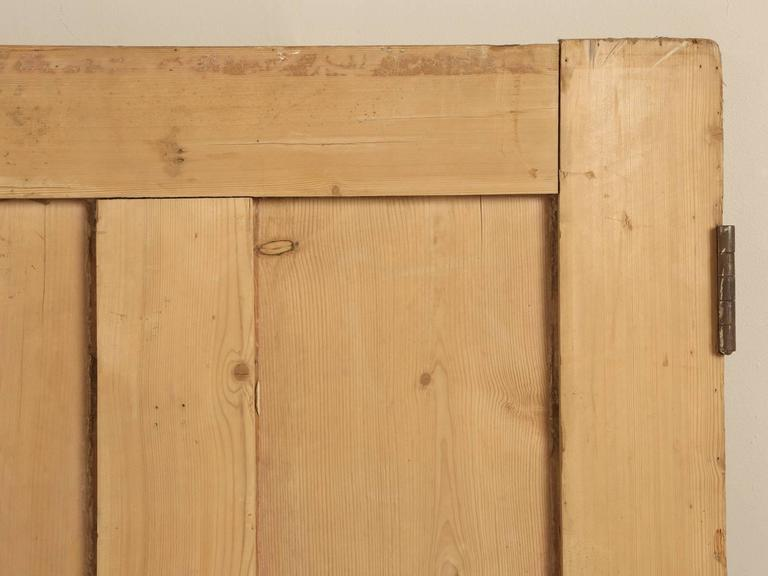 Country Antique Irish Pine Scrubbed Exterior Door For Sale