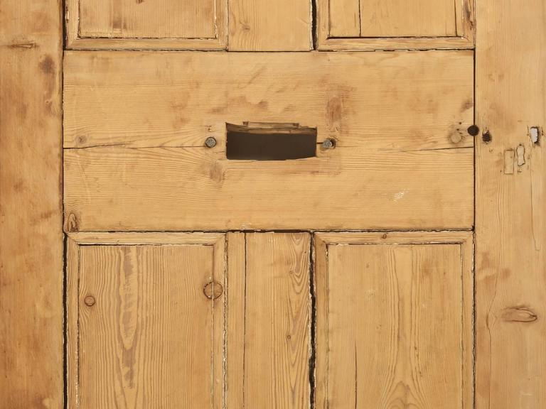Antique Irish Pine Scrubbed Exterior Door For Sale 5