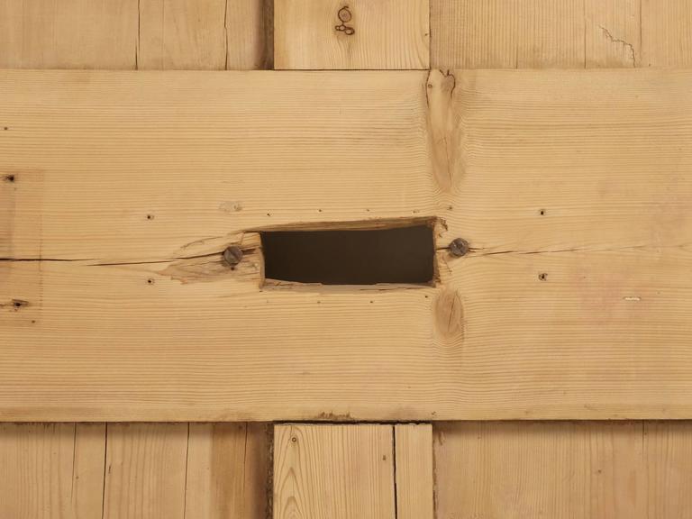 Antique Irish Pine Scrubbed Exterior Door For Sale 1