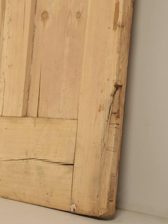 Antique Irish Pine Scrubbed Exterior Door For Sale 3