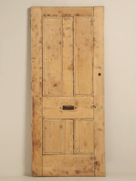 Antique Irish Pine Scrubbed Exterior Door For Sale 4