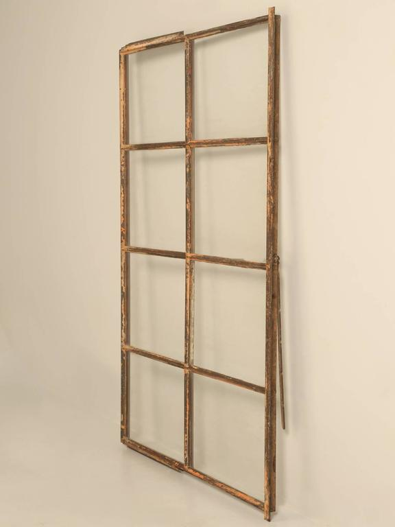 We actually have three of these antique metal (steel) windows, which we believe are circa 1927 from Chicago. All three are in original condition and with their antique wavy glass still in place.